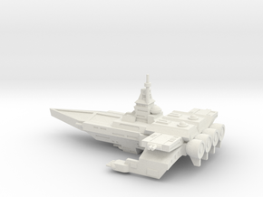 TCS Tiger's Claw - Bengal-class Strike Carrier in White Natural Versatile Plastic
