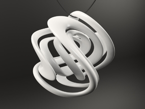 LIMITLESS Necklace Pendant in White Strong & Flexible Polished
