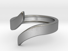 Open Design Ring (20mm / 0.78inch inner diameter) in Natural Silver
