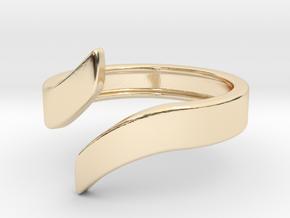 Open Design Ring (20mm / 0.78inch inner diameter) in 14k Gold Plated Brass