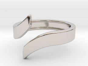 Open Design Ring (21mm / 0.82inch inner diameter) in Rhodium Plated Brass