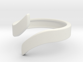 Open Design Ring (22mm / 0.86inch inner diameter) in White Natural Versatile Plastic
