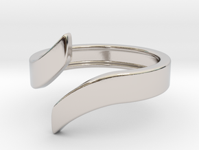 Open Design Ring (25mm / 0.98inch inner diameter) in Rhodium Plated Brass