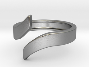 Open Design Ring (27mm / 1.06inch inner diameter) in Natural Silver