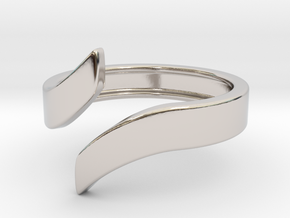 Open Design Ring (29mm / 1.14inch inner diameter) in Rhodium Plated Brass