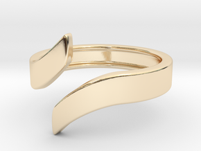 Open Design Ring (29mm / 1.14inch inner diameter) in 14k Gold Plated Brass