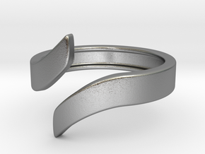 Open Design Ring (30mm / 1.18inch inner diameter) in Natural Silver
