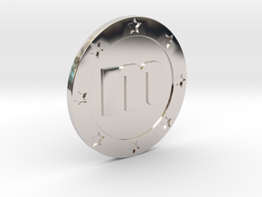 Memorycoin real coin in Rhodium Plated Brass