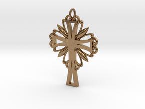 Decorative Cross in Natural Brass