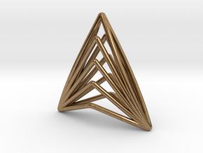 Silk Hand 01 Pendant in Natural Brass