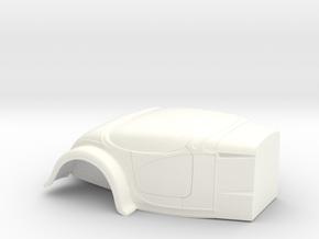 1/25 +4 Inch Fender L Firewall Bantam Altered in White Processed Versatile Plastic