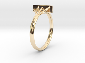 Suspension Ring US Size  5/8 UK Size R in 14K Yellow Gold