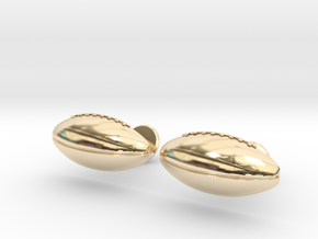 Football Cufflinks in 14k Gold Plated Brass