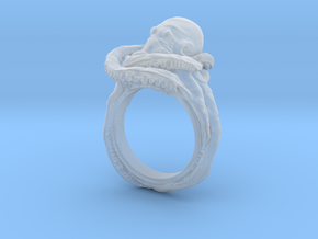 Octopus Ring in Smooth Fine Detail Plastic