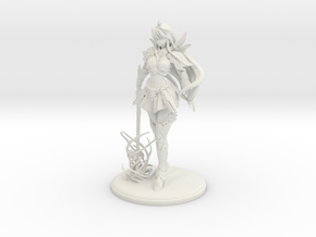 Ink-chan Figurines in White Natural Versatile Plastic