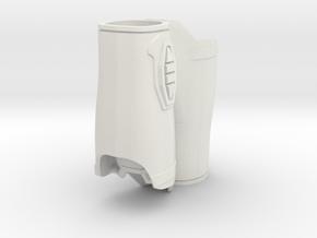 1:6 Scale Armor Forearm wider version in White Natural Versatile Plastic