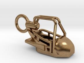 """Schlüsselanhänger """"Tristargondel"""" - 1:87(H0 scale) in Raw Brass"""