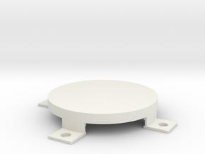 NeoPixel Ring (16 pixels) Diffuser V1 in White Natural Versatile Plastic