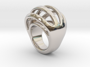 RING CRAZY 15  -  ITALIAN SIZE 15 in Rhodium Plated Brass