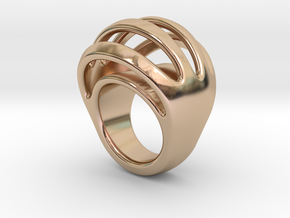 RING CRAZY 16 - ITALIAN SIZE 16 in 14k Rose Gold Plated Brass