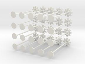 1:400 - Floodlights_v1 [x20] in White Natural Versatile Plastic