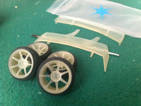 Nissan PS13 1/24 Rims and Wings pack in Smooth Fine Detail Plastic