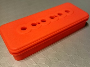 P90 guitar pickup cover in Red Processed Versatile Plastic