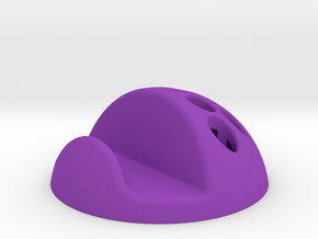 Support smartphone / 9 crayons (boule) in Purple Processed Versatile Plastic