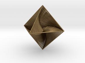 0048 Octahedron Line Design (10 cm) #002 in Natural Bronze