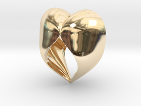 Heartful in 14k Gold Plated Brass