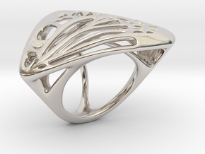 Butterfly Ring [ Size 8 ] in Platinum