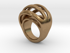 RING CRAZY 17 - ITALIAN SIZE 17 in Natural Brass