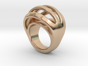 RING CRAZY 21 - ITALIAN SIZE 21 in 14k Rose Gold Plated Brass