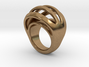 RING CRAZY 23 - ITALIAN SIZE 23 in Natural Brass