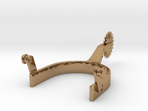 cowboy Boot Spur 1/6 scale in Polished Brass