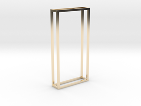 The edge of the Monolith in 14k Gold Plated Brass