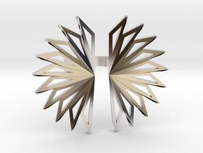 Fan Ring in Rhodium Plated Brass