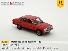 Mercedes-Benz W123 (TT 1:120) in Smooth Fine Detail Plastic