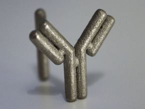 Antibody cufflink in Polished Nickel Steel