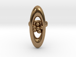 variation on a jweel ring i designed in Natural Brass