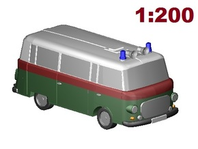 Barkas Volkspolizei (1:200 scale) in Frosted Ultra Detail