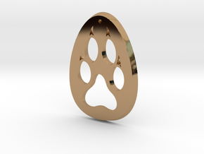 Paw Print Medallion in Polished Brass
