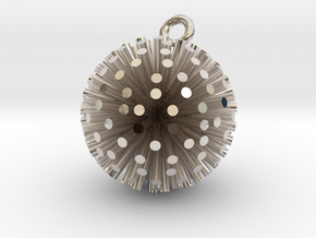 Sea Urchin Pendant in Rhodium Plated Brass