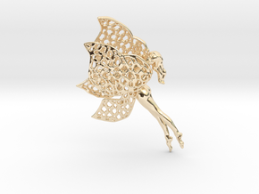 Flittering fairy in 14k Gold Plated Brass