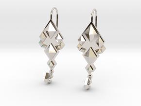 SacredScorpio earrings in Rhodium Plated Brass
