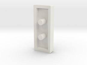 Fake bargraph socket (custom request) in White Natural Versatile Plastic