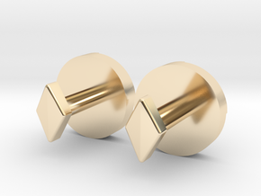 Shield Knot cuff links in 14k Gold Plated Brass
