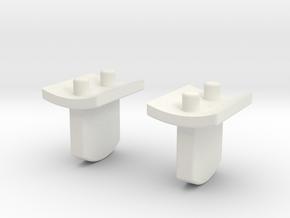 Bunny ears x 2 - Ahsoka style in White Natural Versatile Plastic