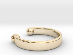 Bracelet Open Ø 19 cm medium in 14K Yellow Gold