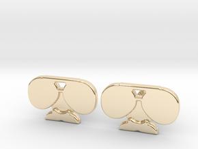 Da Coach Cufflinks - version 1 in 14k Gold Plated Brass